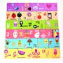 Baby EVA foam puzzle bath toy for children with alphabet animal fruit cartoon