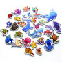 Baby EVA kid fishing shark crab mermaid penguin nemo octopus water animal child foam tub bath toy set with bag organiser