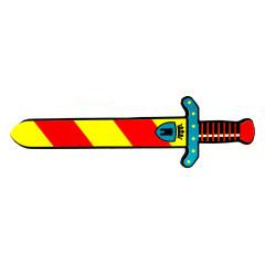 key foam high quality foam sword and shield toy
