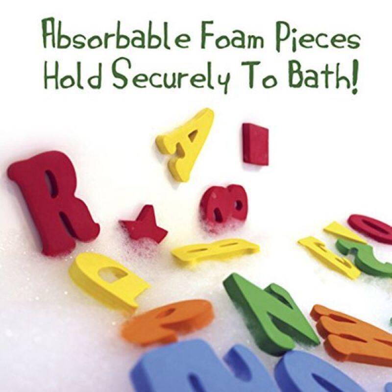 Educational letter number tub town foam bath toys with bath toy organizer soft bath toys sponge letters