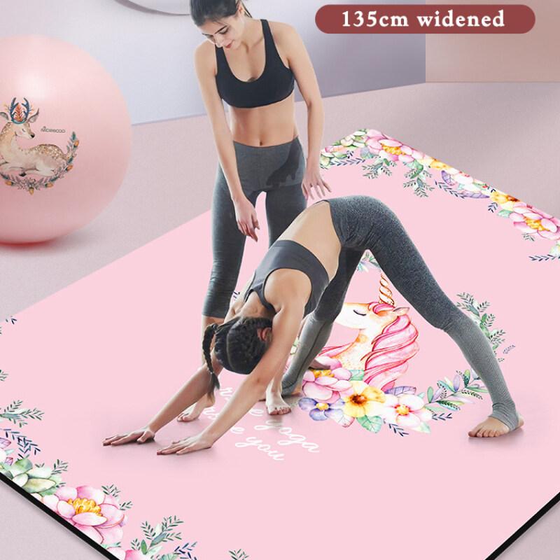 Wholesale entertainment large yoga mat logo custom print yoga mat folding