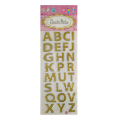 Vinyl Wall Stickers Decal Of Puffy Golden Letters For Kids