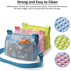Seashell Mesh Tote Shell Bag Beach Toy Bags Kids Sandboxes Nets Bag Bath Toy Mesh Organizer
