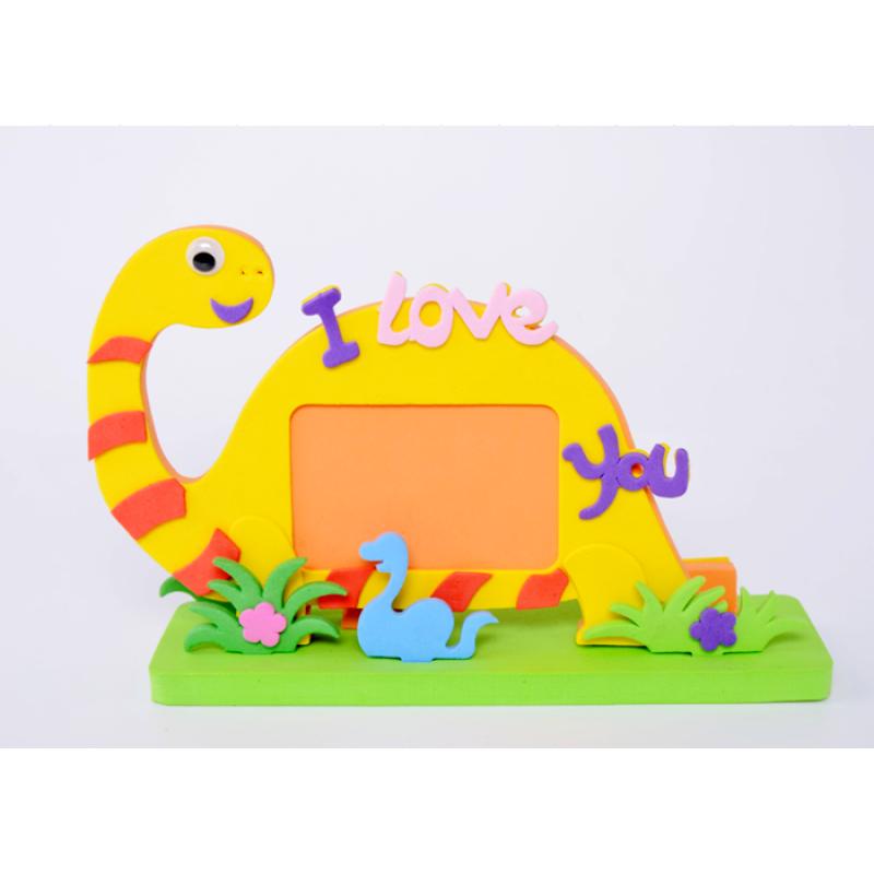 DIY carton characters craft EVA photo frame