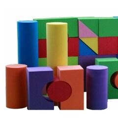 Non toxic custom educational eva foam building blocks for kids