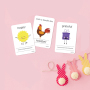 Custom printed cardboard learning kids flash cards