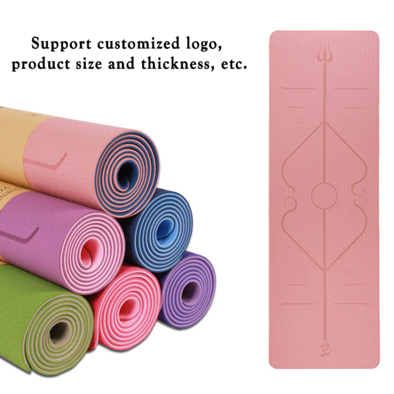 Custom high-quality fitness tpe yoga mats non slip  yoga mat tpe
