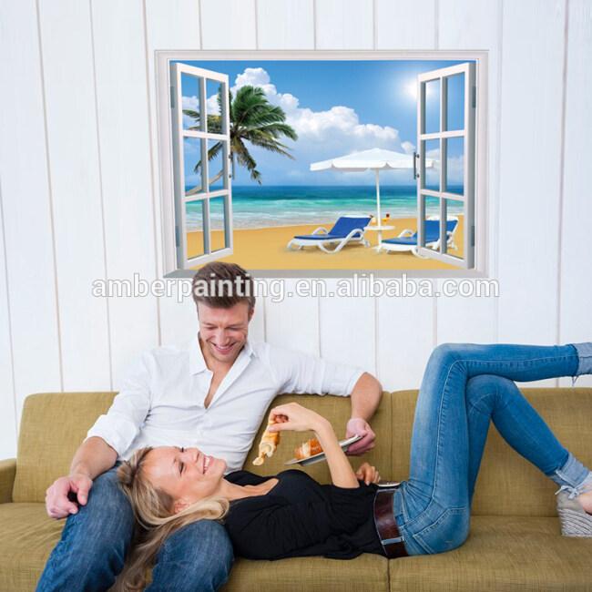 ocean themed home office wall decals PVC wall sticker art vinyl