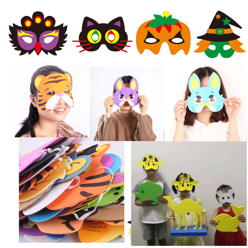promotional cheap soft custom EVA foam  3D  mask animal face for kids