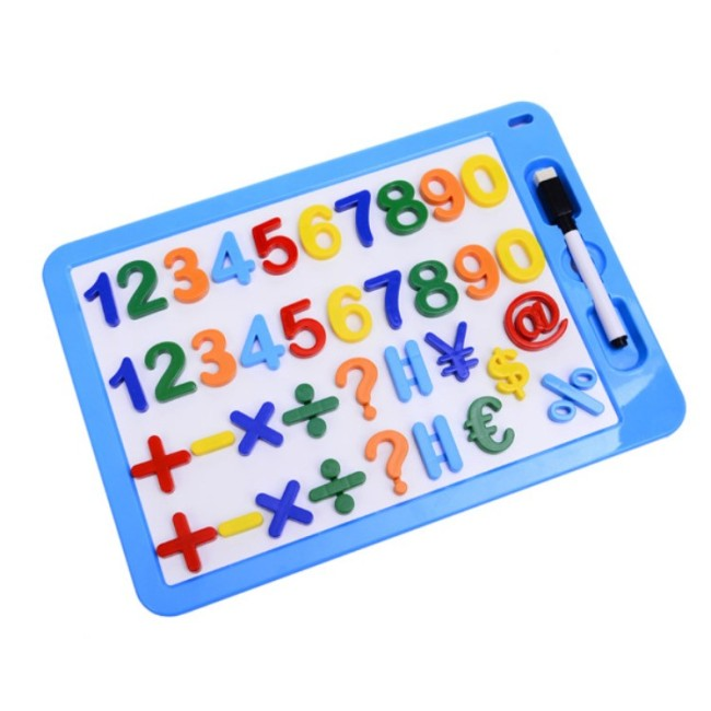 plastic educational small kids magnetic whiteboard children letters numbers marker