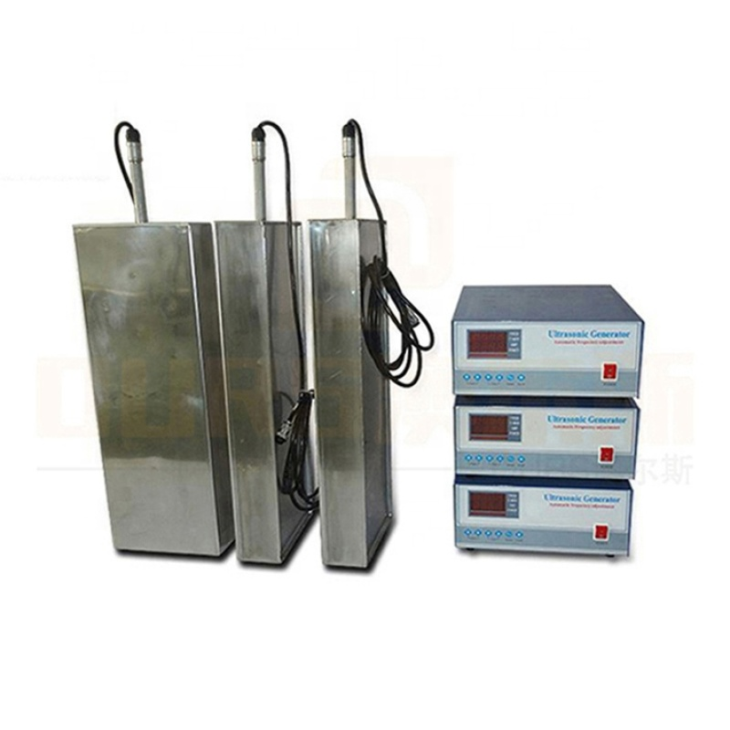 SS316 Material Immersible Type Ultrasound Cleaning Transducer Plate With Ultrasonic Generator 28K/80K/130K Multi Frequency