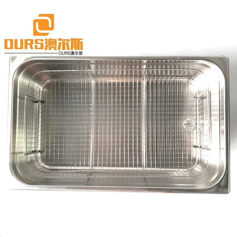 316/304 SUS Material Ultrasonic Vibration Cleaning Device 22L Transducer Made Digital Ultrasonic Cleaner Tank With Basket