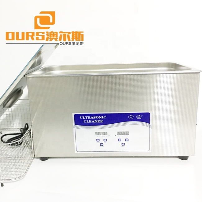Big table type SS304 digital timer and heating ultrasonic cleaner ultrasonic washer 30L
