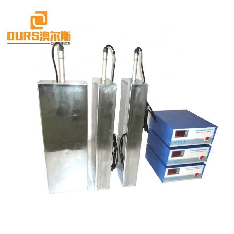 Installed In Industrial Cleaner Immerion Ultrasonic Array Transducer/Cleaning Box 40K 1200W And Ultrasonic Generator