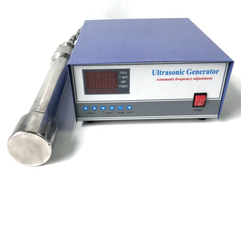 316 Stainless Steel Material Ultrasonic Biodiesel Cleaning Transducer Stick 1000W Tubular Ultrasonic Reactor With Generator