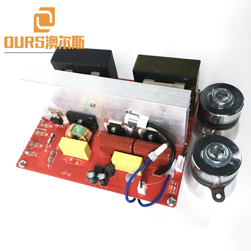68KHZ 100W Sweep Frequency Ultrasonic Vibrator Circuit For Cleaning Jewellery