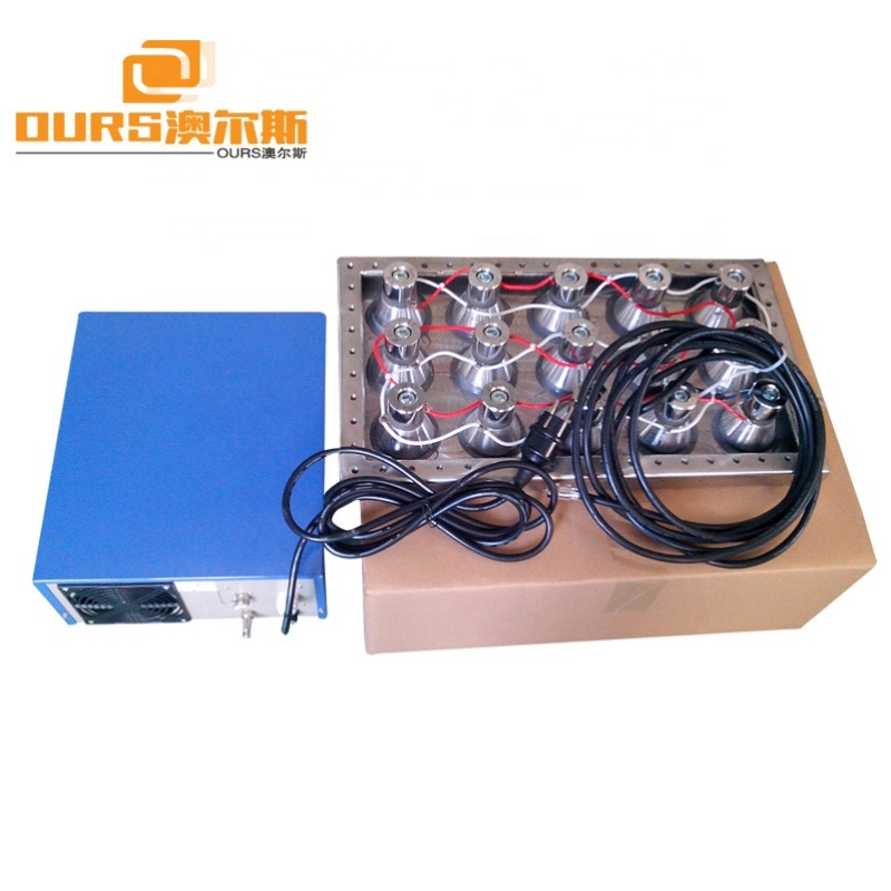 High frequency 1200W Submersible Ultrasonic Transducer Ultrasonic Vibration Board 80KHz For Cleaning Parts