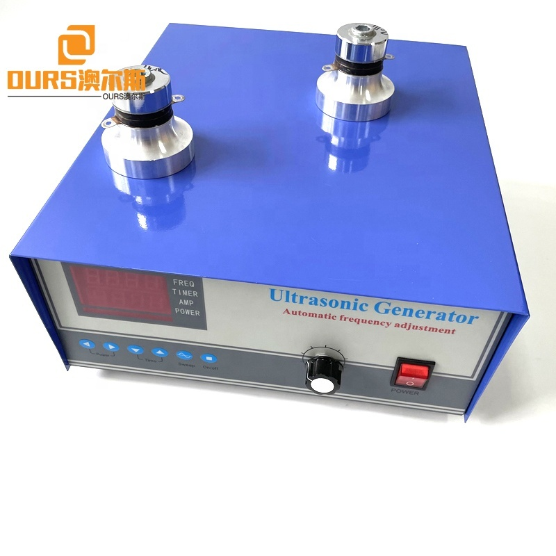110V Or 220V Power And Frequency Adjustable 20K-40K Ultrasonic Cleaning Generator For Making Automobile Filter Oil Pump Cleaner