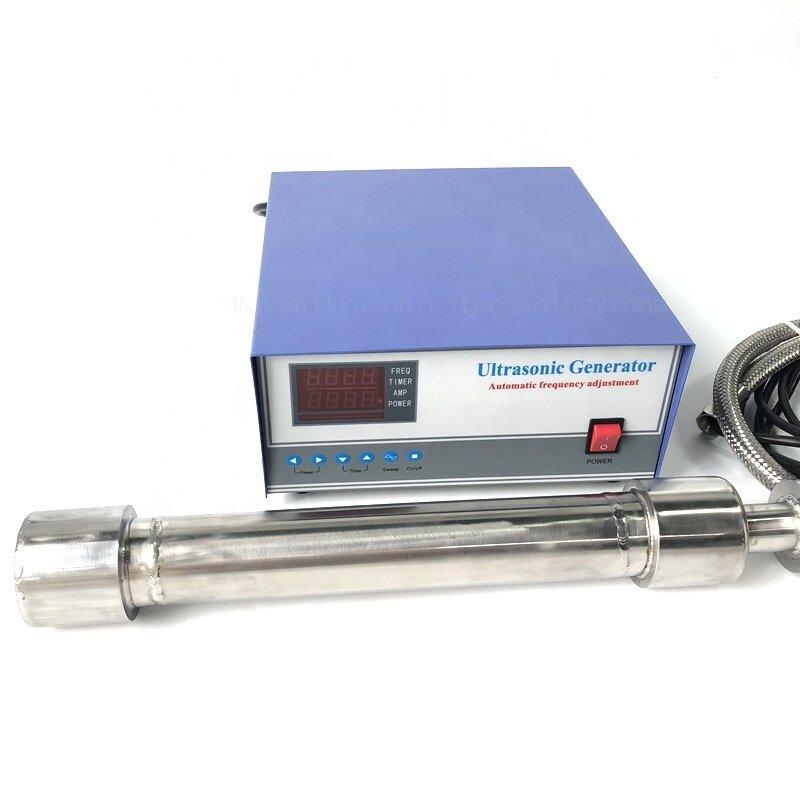 Piezo Ultrasonic Extracting Biodiesel Reactor 1000W Tubular Ultra Immersion Vibration Transducer Biodiesel Industrial Sensor Rod
