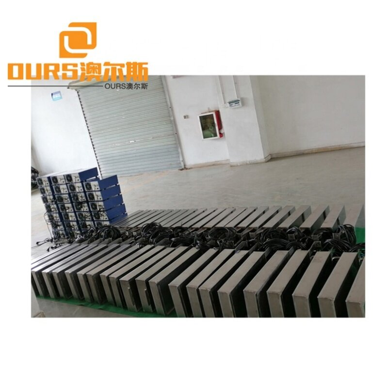 Factory Customized Immersible Ultrasonic Transducer Cleaner Plate With Flexible, Hand Pipe And Bulkhead 28K 1000W