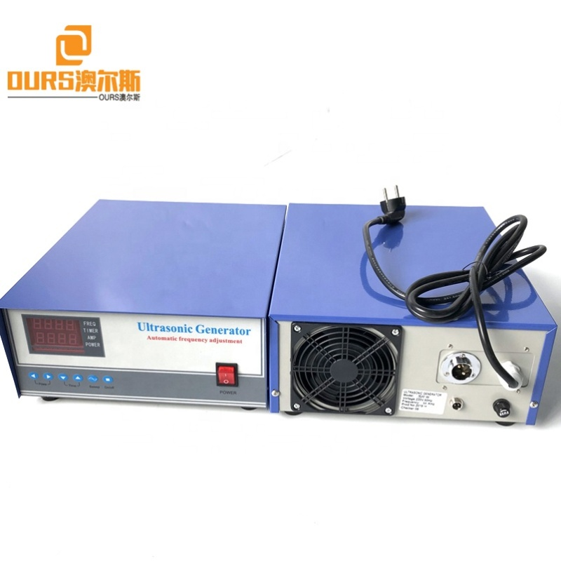 28K Frequency High Vibration Power Ultrasonic Cleaning Generator Used In Engine Pipe Internal Cleaning Devices
