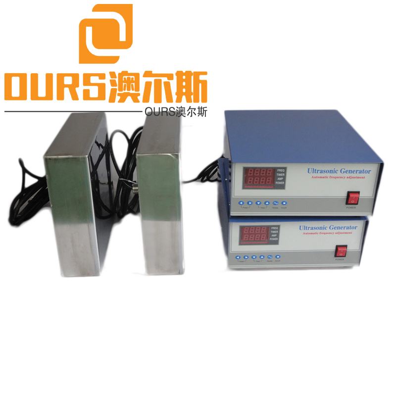 2000W 40KHZ Frequency Side Type Immersible Ultrasonic Transducer For Auto Parts Cleaning