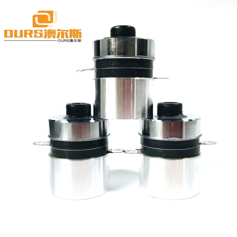 High Frequency Piezoelectric Ultrasonic Transducer 80KHz/60W For Industrial Ultrasonic Cleaning System