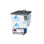 28khz ultrasonic cleaning machine movable stainless steel SUS304 electroplating tank capacity 70L 100watt