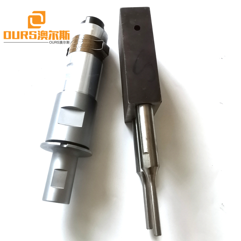 2000W Ultrasonic Welding Generator And 20KHZ Transducer With Two Welding Horn For Plastic Machine