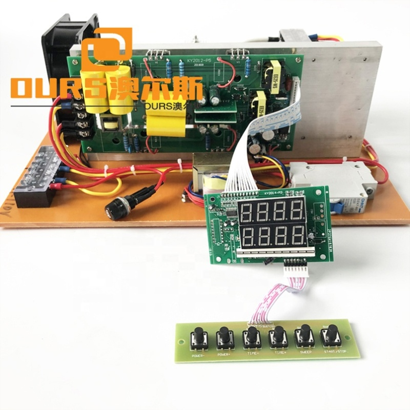 Low Frequency Ultrasonic Industrial Cleaning Generator PCB Piezoceramic Transducer Power Supply 17KHZ For Cleaner Bath