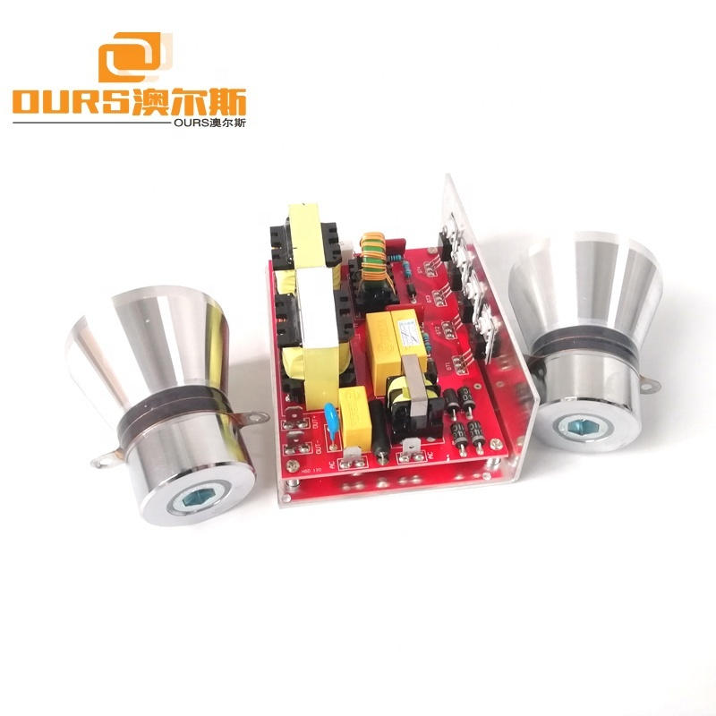 28KHz Ultrasonic Jewelry Cleaners Drive Circuit Board 100W PCB Included 2 Ultrasonic Transducer 40KHz 50W
