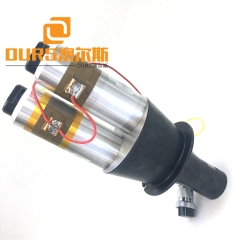 4200W 15KHZ Double Head Ultrasonic Welding Transducer With Booster For Welding ABS plastics
