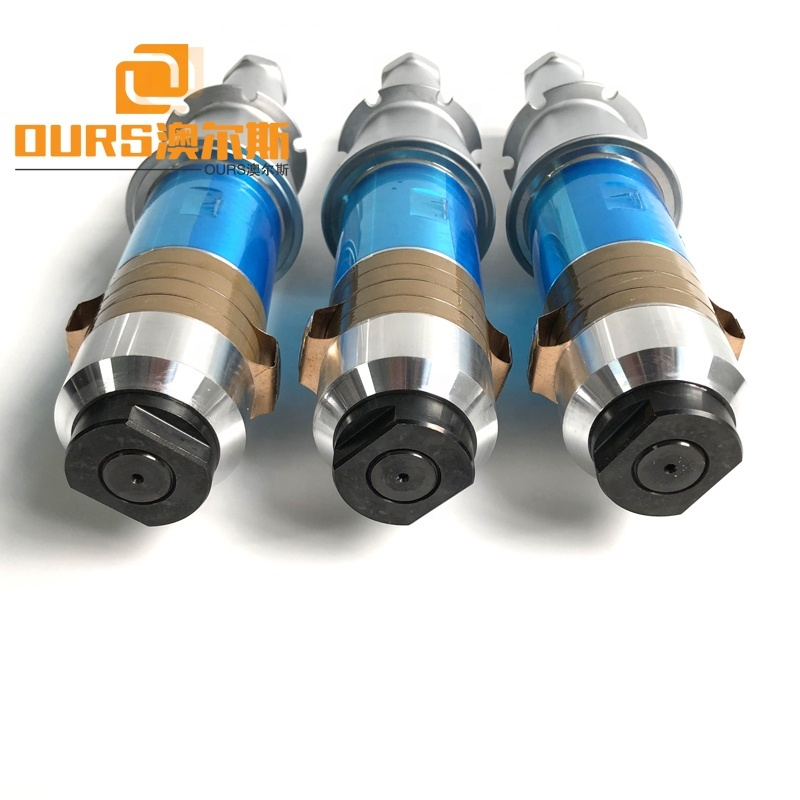 15KHz 2000W Big Power Fabric Masking Spot Ultrasonic Welding Transducer With Booster