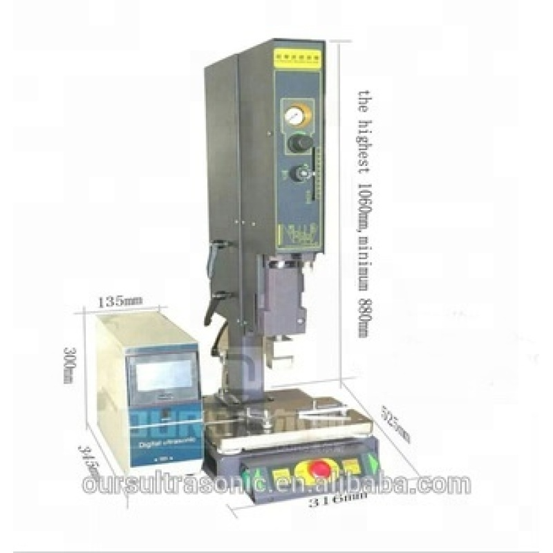1800w Automatic frequency control and touch-key control 15khz ultrasonic plastic welding machine