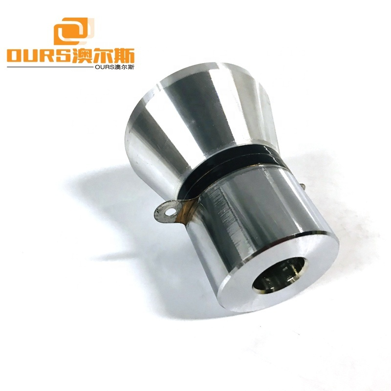 25KHz 100W Piezoelectric Vibration Sensor Type Ultrasonic Transducer For Industrial Parts Cleaner