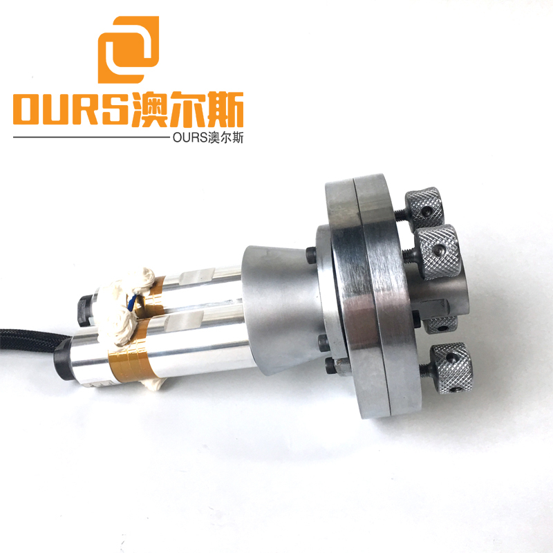 3200W Double head High Reliable 20KHZ Ultrasonic Welding Transducer For Deerskin Air cotton mask