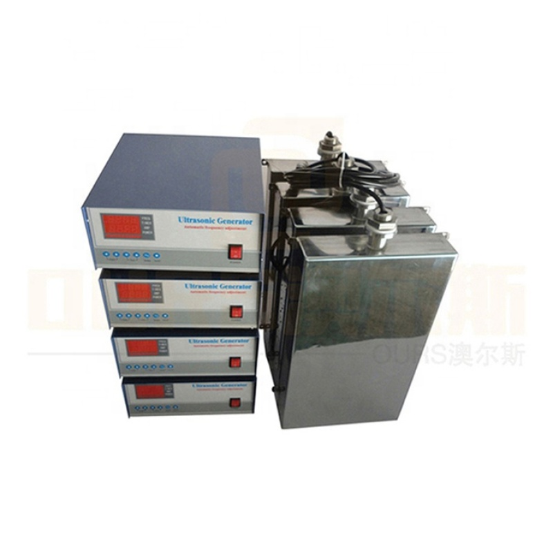 316 Stainless Steel Material Immersible Type Ultrasonic Cleaner Board 2000W 17K-40K Single Frequency Transducer Plate