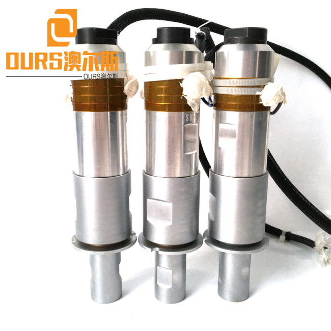 Ultrasonic Converter and 110* 20mm horn for 20KHZ 2000W Ultrasonic Welding