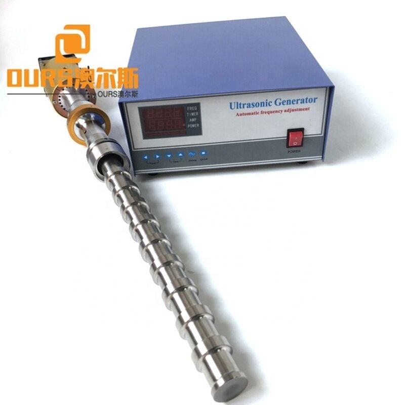 1000W Ultrasonic Reactor Tubular In Biochemistry Food Industry 20K Single Frequency  For Ultrasonic Emulsification/Mixing