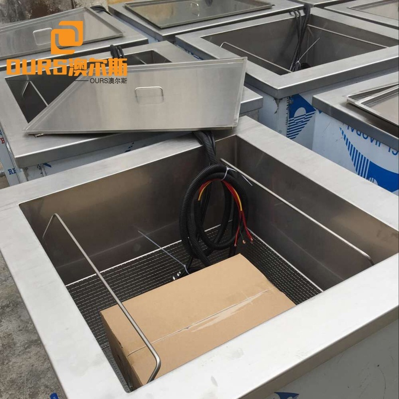 28K 2400W Aluminum Parts Ultrasonic Cleaning Machine 180L Big Capacity 304SS Industry Ultrasonic Transducer Cleaner Tank