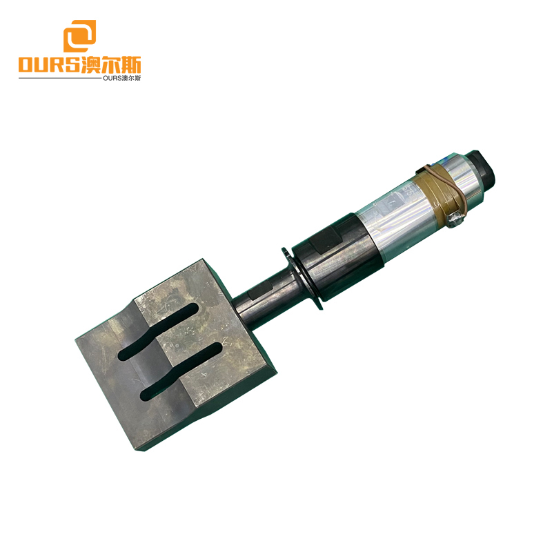 15khz 20khz 2000W ultrasonic welding transducer with booster horn for Plastics and non-woven fabrics welding machine