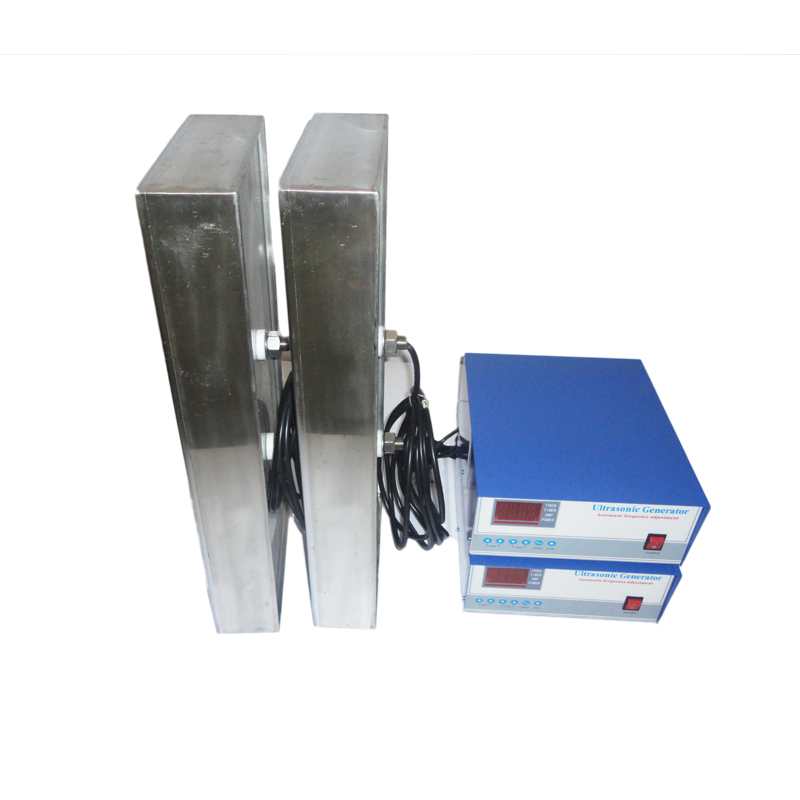 Immersible Ultrasonic Transducer Pack and generator for auto parts cleaning Immersible ultrasonic transducer pack