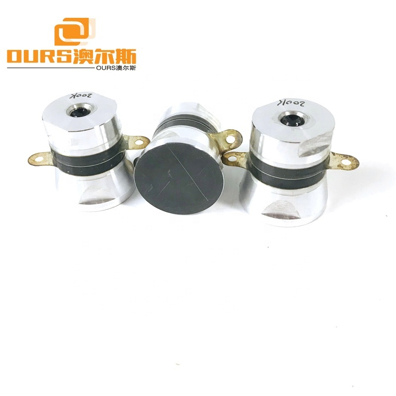 High Frequency 30W Piezoelectric Ultrasonic Transducer 200KHz For Ultrasonic Cleaning