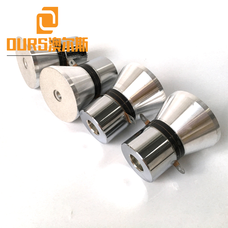 25KHZ 60W PZT4 Ultrasonic Transducer Frequency Sweep For Cleaner System
