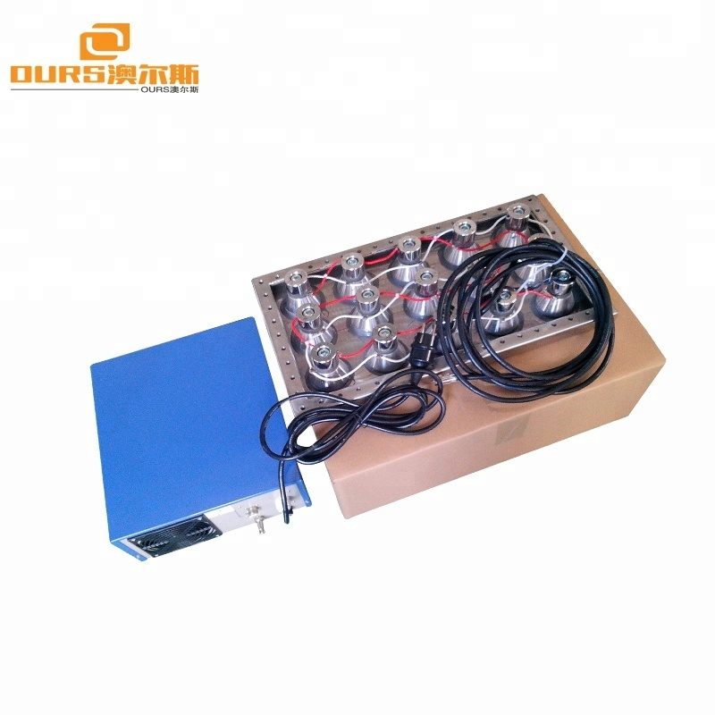 2000W Ultrasonic Cleaning Tanks Immersible Ultrasonic Transducers Pack With Generator