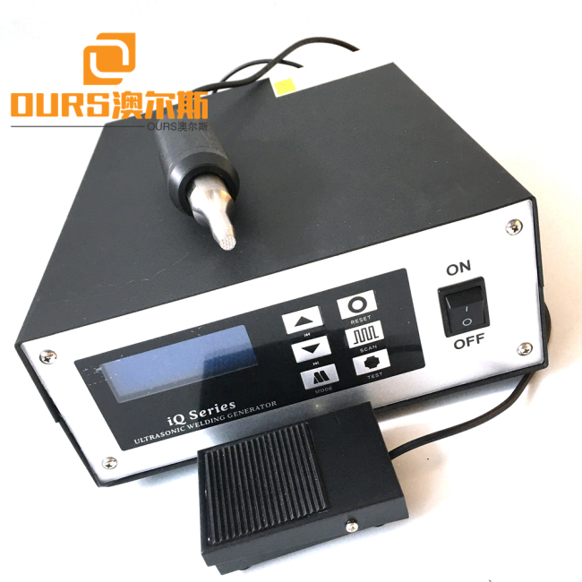 800W Mobile Titanium Thermoplastic Ultrasonic Sealing Machine 28khz Low Energy Consumption Low Cost