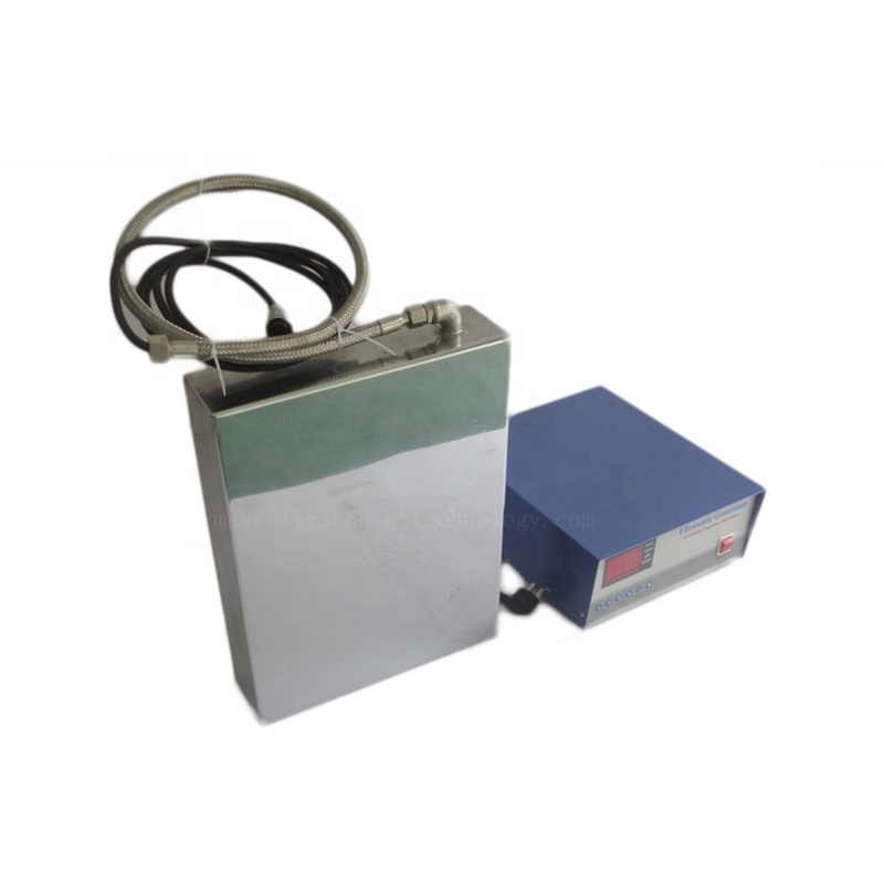 28K Frequency Ultrasonic Piezo Cleaner Transducer Plate Immserible Square Vibration Transducer Box With Ultra Generator Control
