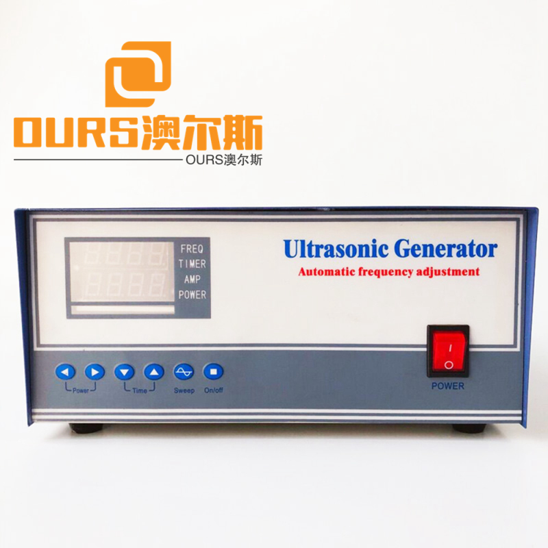 1200W 40KHZ  sweep frequency ultrasonic signal generator with Power Adjustable For Industrial Cleaning