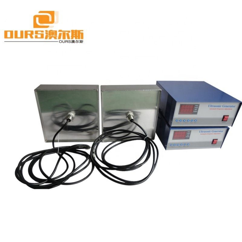 28KHz 600W Ultrasonic Transducer Plate Immersible Pack With Ultrasonic Generator Control Box