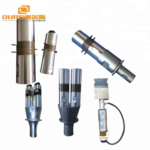 2600W20khzProfessional High Power ultrasonic welding transducer with booster,shaped non-woven welding ultrasonic transducer